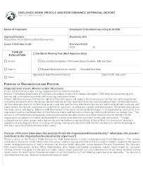 Employee Profile Format Work Profile Template Worldtreasury Info