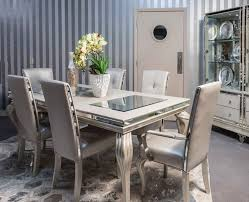 aico dining chairs. hollywood loft frost 8 pc dining set by aico chairs