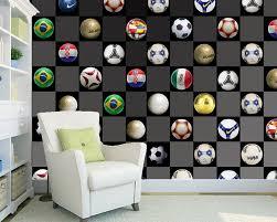 Custom Voetbal Behang Voetbal Fresco Voor Kinderkamer Bar Ktv