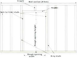 Window Header Size And Door Headers Garage Sizing Framing
