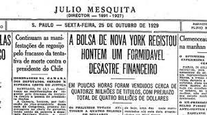 Resultado de imagem para crise de 1929