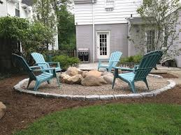 fire pit edging ideas awesome pea gravel fire pit patio craftsman with grass top
