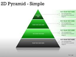 Horizon 2d Pyramid Simple Powerpoint Slides And Ppt Diagram