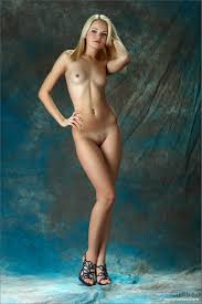 Talia Babe Skinny Teen Blonde Poses Her Perfect Body Naked Wearing Only High Hee R18hub