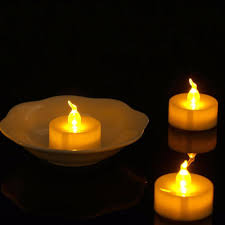 Flickering Tea Lights 12 Pieces Amber Flickering Candele Plastic Bright Velas Led Long Battery Life Led Candle Light In Candles From Home Garden On