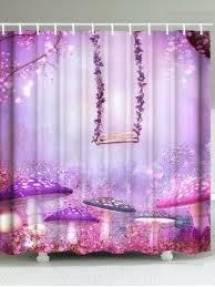 purple shower curtains waterproof dreamy swing mushroom print shower curtain purple shower curtains uk