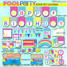 pool party printable collection mimi s dollhouse pool party printable collection pink