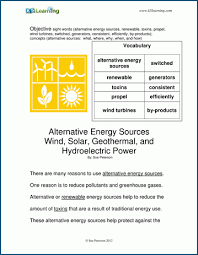 © contributed by leanne guenther. Alternative Energy Sources Level T Children S Story K5 Learning
