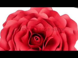 Red Paper Flower Extra Large Rose Template Diy Paper Flower Backdrop For Wedding Events