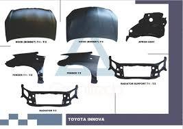 car exterior parts.  Parts Toyota Innova Body Parts Hood Fender Radiator Support On Car Exterior S