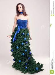 Wallpapers New Year Brown Haired Girls Christmas Tree Gifts BallsGirls Christmas Tree Dress