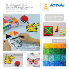 Us 194 0 178 Colors C 2 6mm Mini Artkal Fuse Beads 1000pcs Bag Hama Perler Beads Funny Education Toys Free Square Pegboare Cb1000 F In Puzzles From