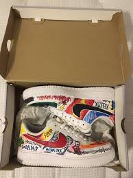 Nike Custom Miss Spent Youth Af1s Size 9 5 Low Top Sneakers For