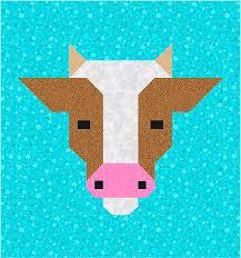 Cow Quilt BLOCK Pattern PDF Instant Download modern & Cow Quilt BLOCK Pattern, PDF, Instant Download, modern patchwork, cattle,  animal, cute, fresh, farm Adamdwight.com