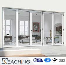 Balcony Folding Door UPVC Frame with Sound Proof Glass from China ...
