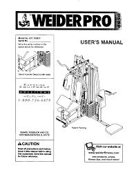 Weider Pro 4850 Exercise Chart Weider 831153931 User Manual Pro 4850 Manuals And Guides
