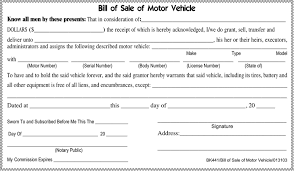 Vehicle Bill Of Sale Form Free Tennessee Motor Vehicle Bill of Sale Form - PDF | 227KB | 1 Page(s)