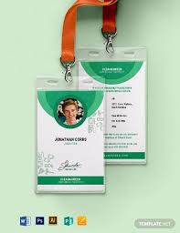 Identification Card Samples 36 Free Id Card Templates Word Psd Indesign Apple