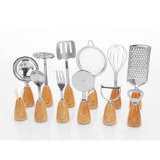smiling face stainless steel cooking tools kitchen utensils set with wooden handle essential kitchen gadgets european kitchen gadgets from cocosoly tools