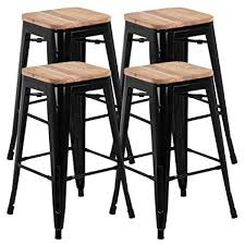 Wooden and metal chairs Farm Table Metal Image Unavailable Pinterest Amazoncom Go2buy 26