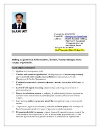 Office Management Resume Office Administration And Facility Management Resume Shanu Joy
