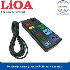 Giá bán Ổ cắm điện đa năng LiOA 10 ổ cắm 3m x 2 4D6S32 (Đen) - Hàng Chính  Hãng
