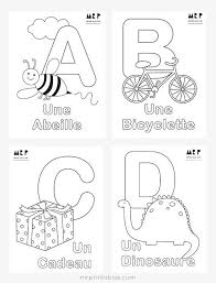 French Alphabet Coloring Pages Mr Printables Mr Printables