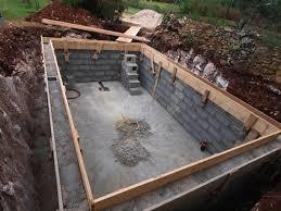 concrete diy pool