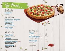 Dominos Pizza Menu Menu For Dominos Pizza Ballygunge