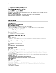 enriching experience 7 cardiologist resume