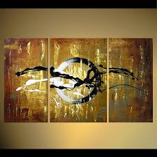 abstract artwork on framed canvas wall art target with painting abstract circle triptych home decor target 5520