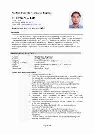 Mechanical Engineering Resume Templates New Mechanical Engineering