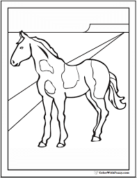 This is one of the cute horse coloring pictures featuring two horses showering coloring is a fun filled educational activity for your kids. Horse Coloring Page Riding Showing Galloping