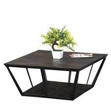 42 x 42 x 20 inches. Industrial Midnight Mango Wood Iron 27 Sq 2 Tier Coffee Table