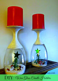 DIY Wine Glass Candle Holders