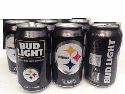 Steelers Bud Light Cans For Sale 2016 Nfl Pittsburgh Steelers Empty Beer Bud Light Kickoff Cans Pack