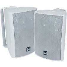 kef outdoor speakers. dual 100 watts 3-way indoor/outdoor speakers / white - pair | lu43pw kef outdoor