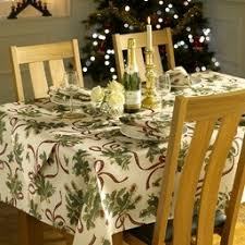 dining room table linens. holly ribbon christmas table linen dining room linens o
