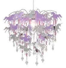 unicorn chandelier purple lamp shade easy fit pendant ceiling lighting for kids