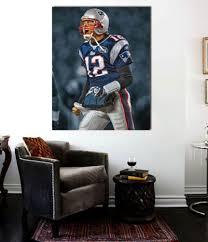 tom brady patriots 12 canvas print 24