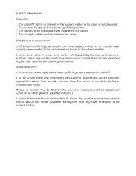 remedial law rule interpleader
