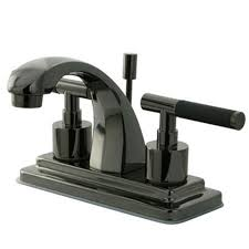 stainless steel bathroom fixtures. Centerset 2-Handle Bathroom Faucet In Black Stainless Steel Fixtures A