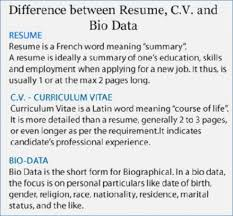 Bio Data Cv Elegant Difference Between Resume And 41 With Of Biodata ...