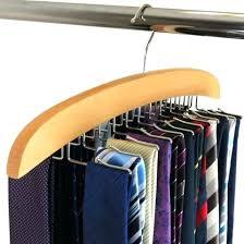 tie rack organizer hanger belt rotating holder closet men ties hook storage clean bathrooms in nyc