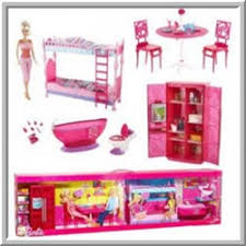 pink dolls house furniture. dollhouse furniture for barbie size dolls pink house