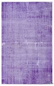 purple over dyed turkish vintage rug 5 8 x 9 1 68 in x 109 in
