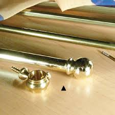 brass curtain rods. Telescoping Sash Polished Brass Curtain Rod With Bracket Rods T