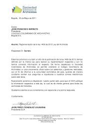 Formato De Carta De Solicitud Carta Solicitud Pronunciamiento Cca Sobre Ley 1409 De 2010