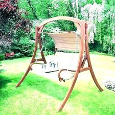 porch swing with canopy outdoor swings furniture wooden and cushions garden t