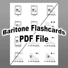 Baritone Euphonium Fingering Chart And Flashcards